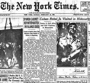 Pagina NYT. con Fidel