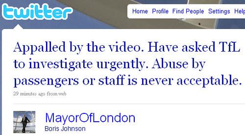 Boris Johnson appalled by video