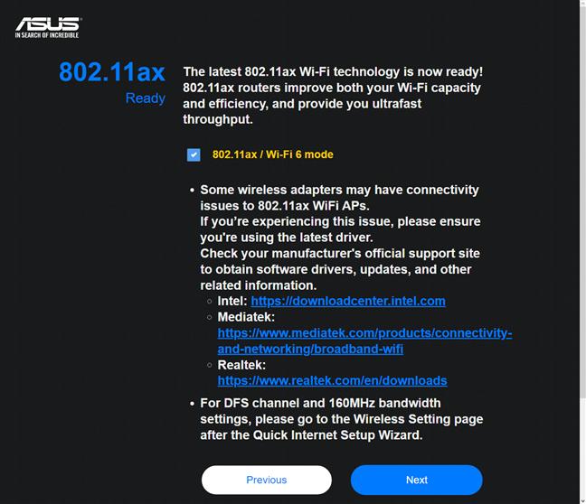Habilitación de Wi-Fi 6 en ASUS RT-AX82U
