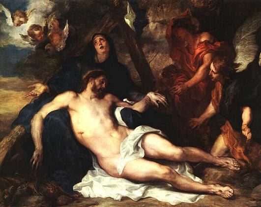 Resultado de imagen de pintura jesus MUERTO  en brazos de maria