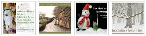 A Sampler Of Quillcards Christmas Ecards