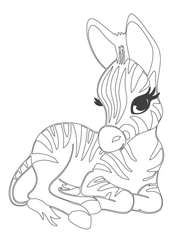 92+ Free Printable Coloring Pages Zebra HD