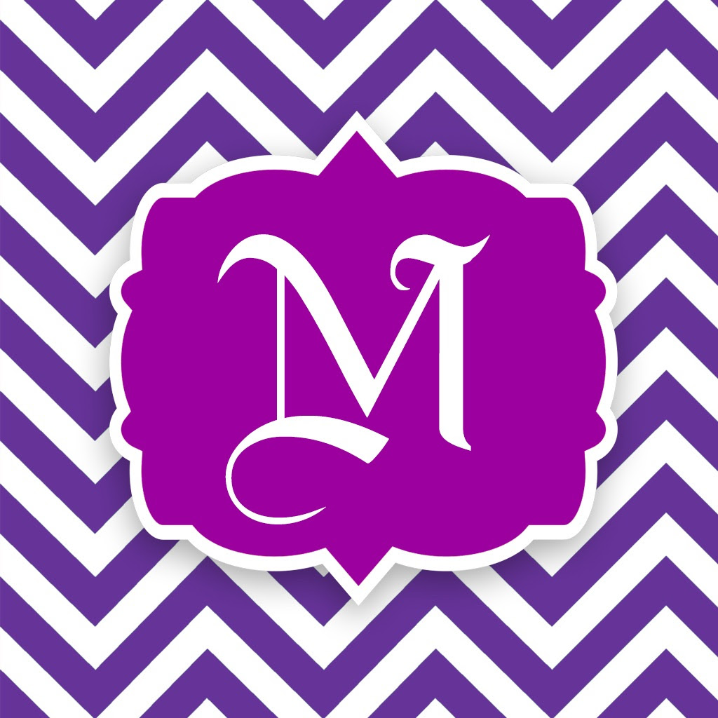 Monogram Wallpapers Maker  Create your own Chevron Initials Backgrounds! on the App Store