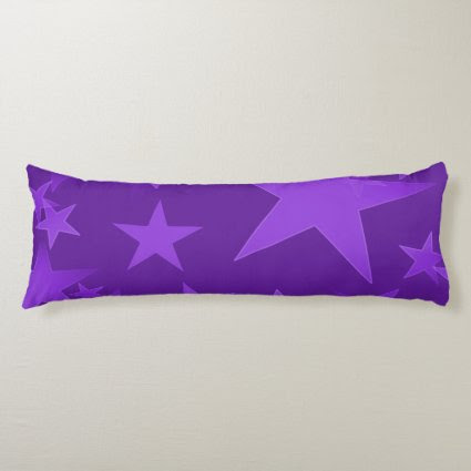 Deep Purple Star Body Pillow