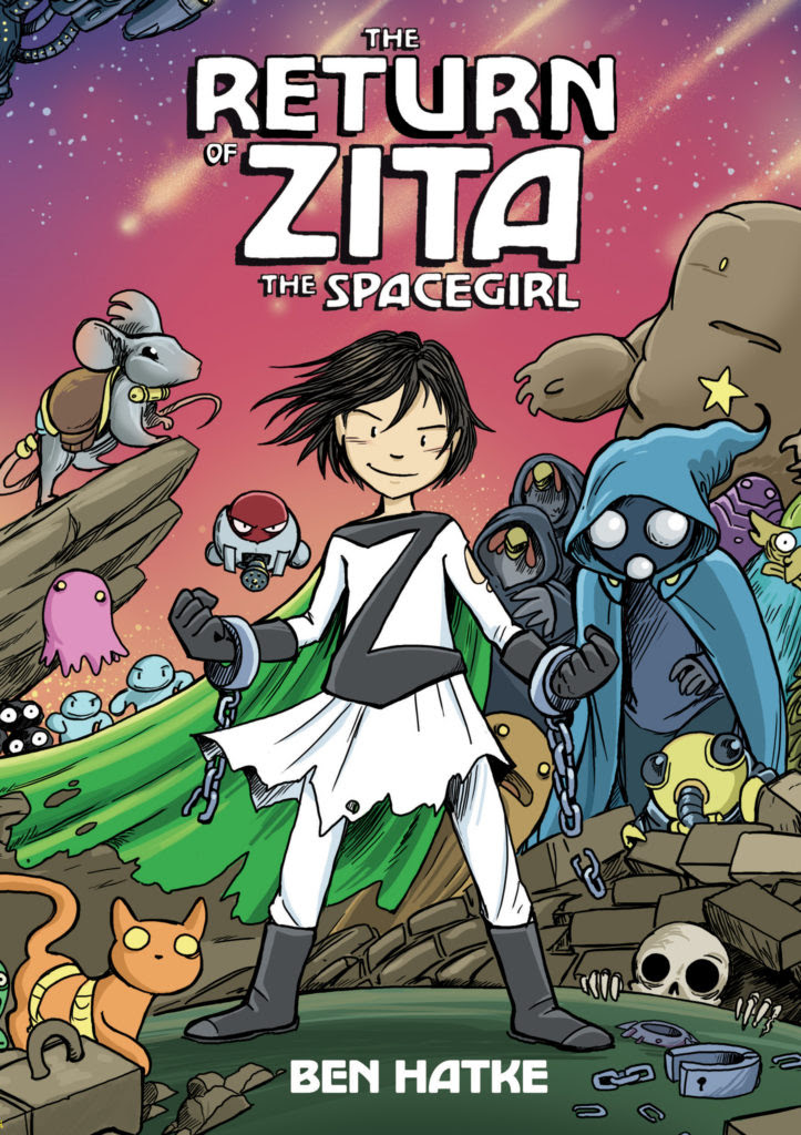 Return of Zita the Spacegirl by Ben Hatke book cover graphic novel