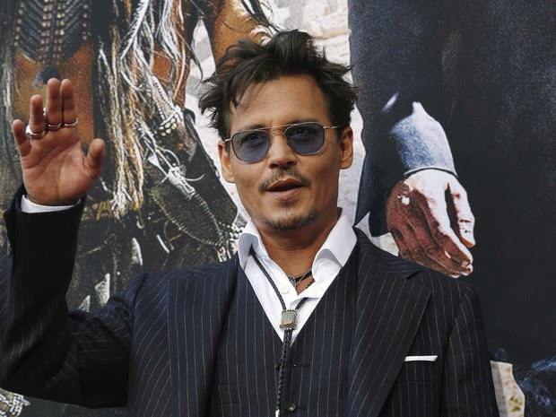 Johnny Depp em première de filme na Califórnia, nos Estados Unidos (Foto: Mario Anzuoni/ Reuters)