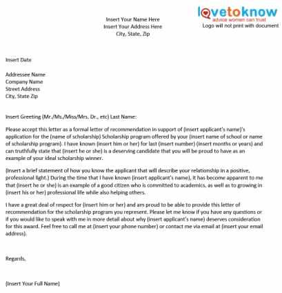 Writing a letter of recommendation for a student for ...