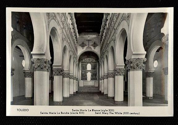 Sinagoga de Santa María la Blanca a mediados del siglo XX. Foto Manipel
