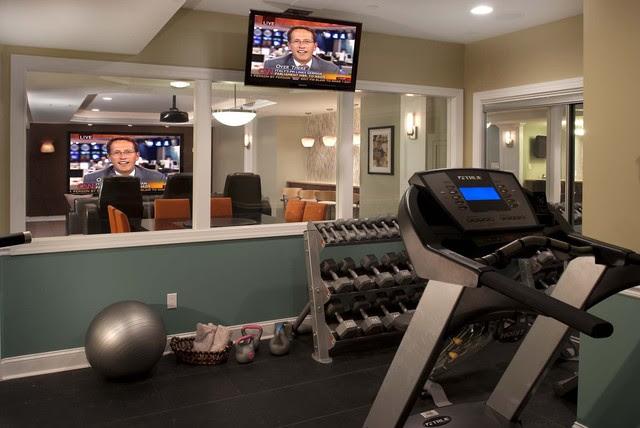 Contemporary Family Entertainment - contemporary - home gym ...