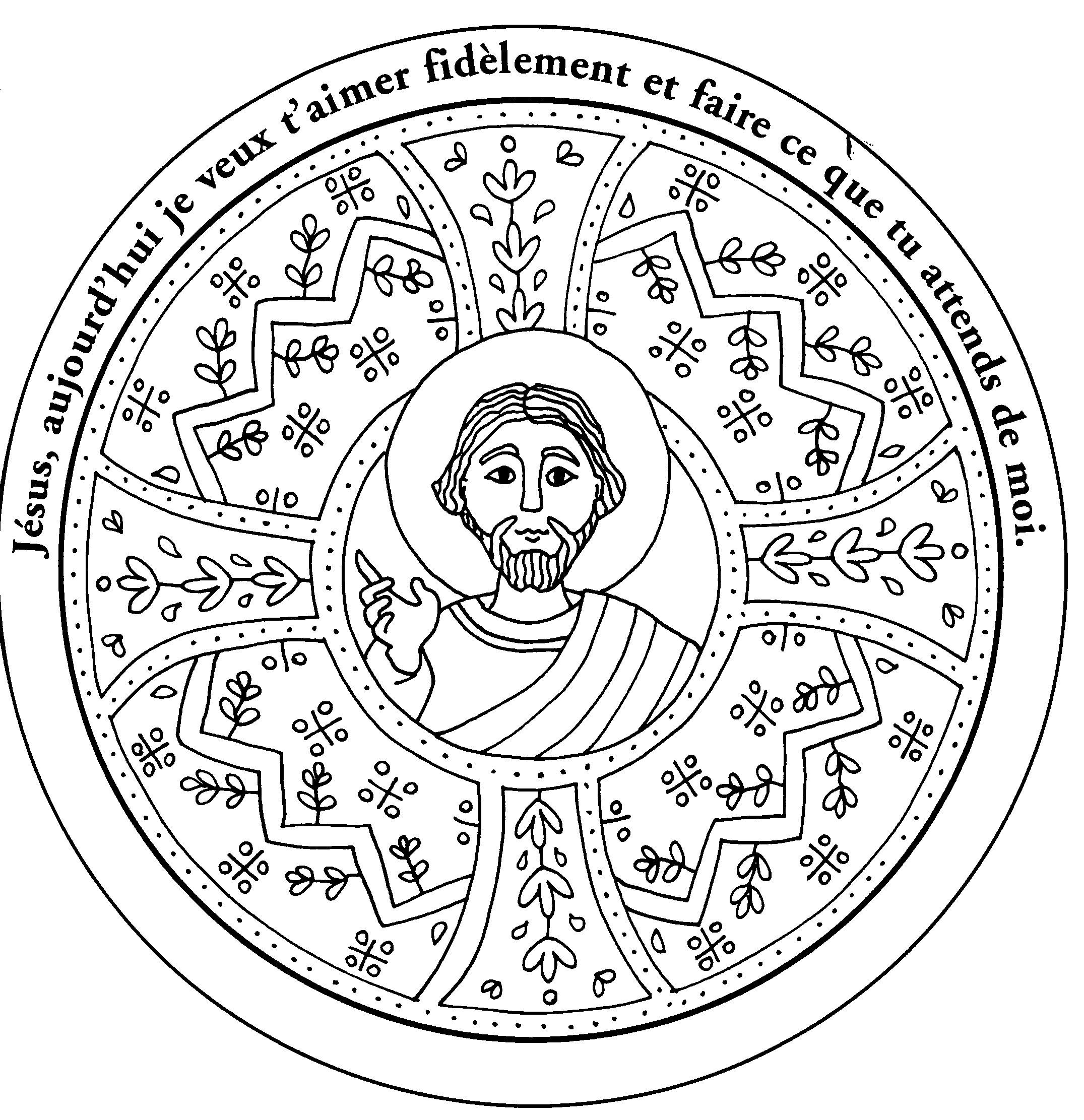 【Meilleure collection】 Coloriage De Jésus à Imprimer