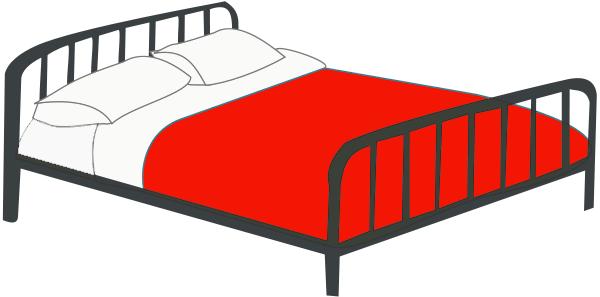 Magnificent Bed Clip Art 600 x 297 · 35 kB · png
