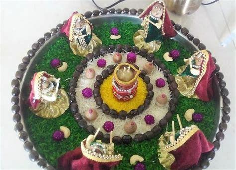 Navratri Aarti Thali Decoration Ideas   Decor, Sewing, Art