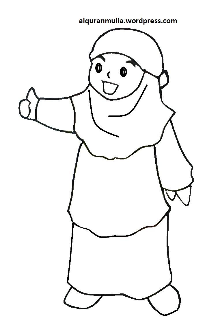 Gambar Kartun Muslimah Sekolah