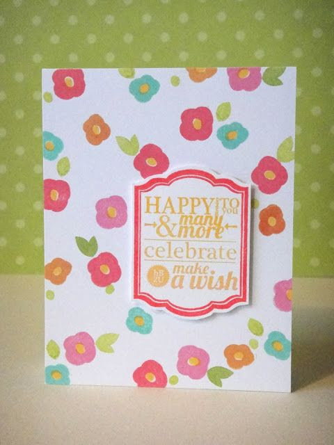 By Donna Mikasa for Avery Elle using Oh Happy Day and Framed Fonts stamp sets.