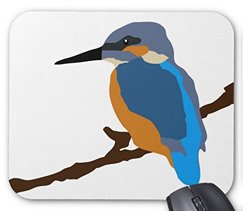 カワセミのイラストのマウスパッド 2フォトパッド 世界の野鳥