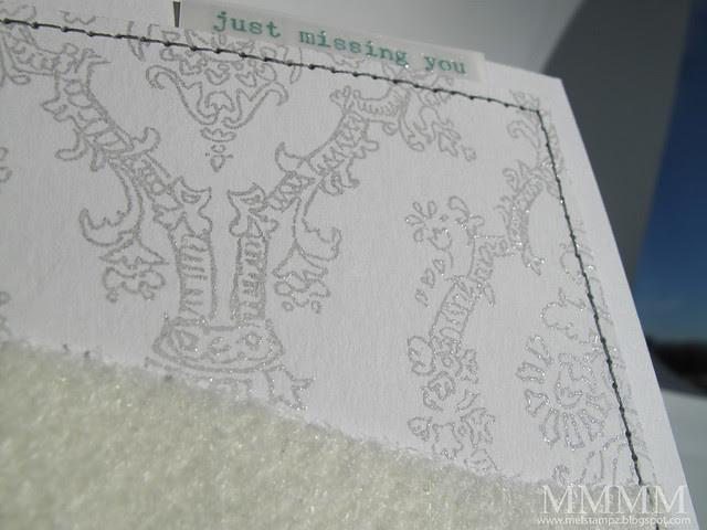 DIY embossed pencil damask paper