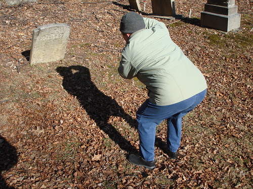 Photographing a Leaning Gravestone by midgefrazel