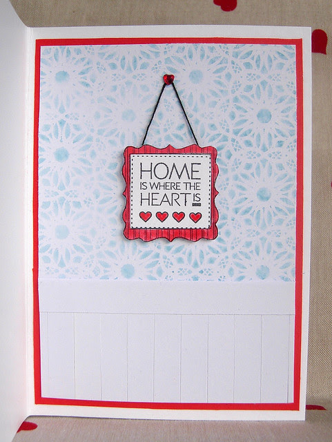 Home is Where the Heart is (inside) - Blog Hop Card