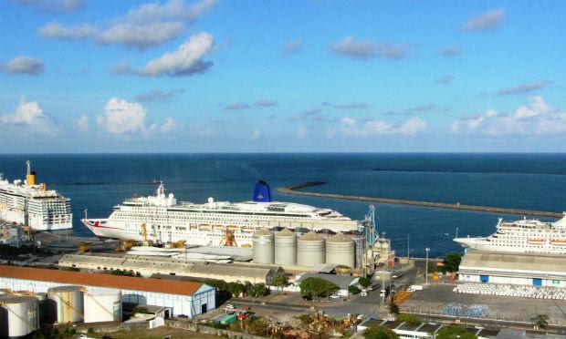 Nove mil turistas irão desembarcar no Recife durante temporada de cruzeiros marítimos / Foto: Divulgação