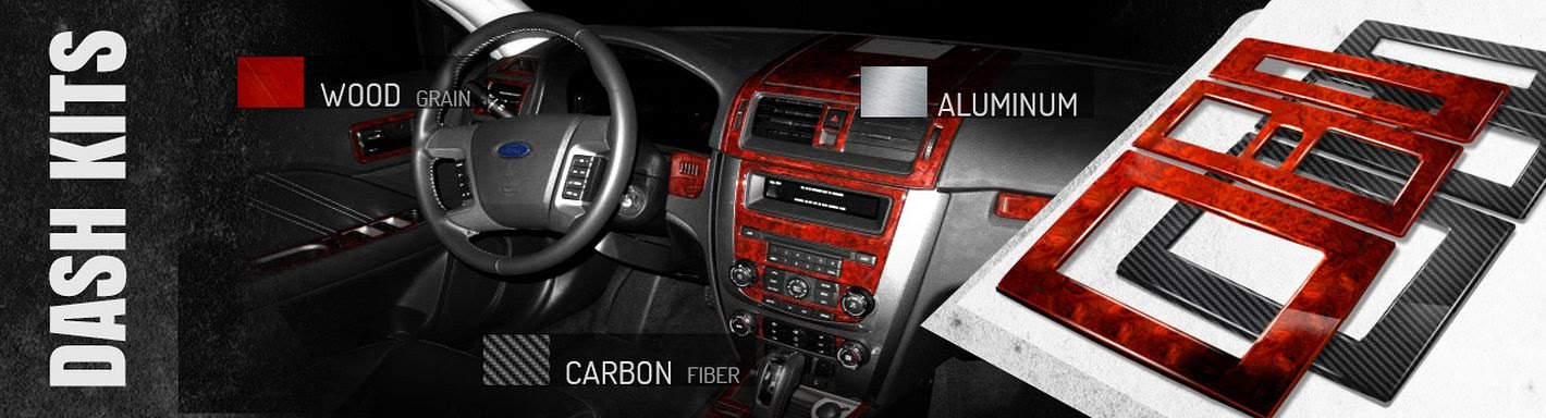 2012 Ford Fusion Wood Grain Dash Kits | Carbon Fiber