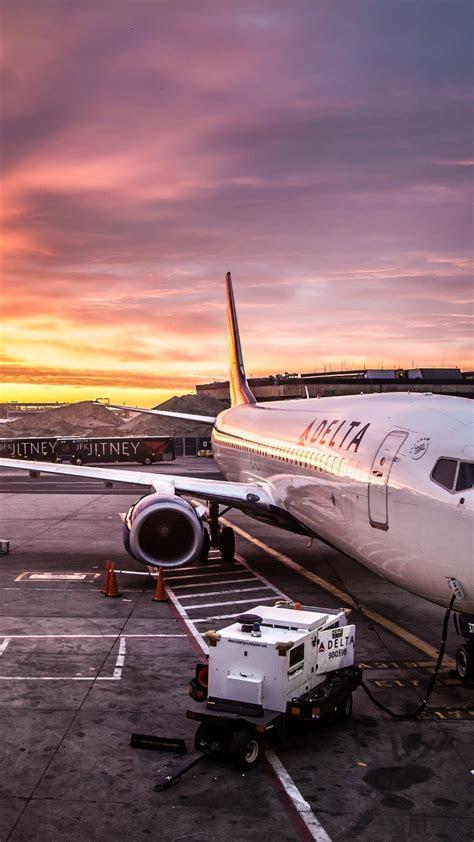 delta airline airplane  jfk airport iphone wallpaper
