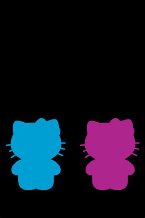 kitty silhouette wallpaper  iphone wallpapers
