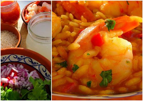 Shrimp Risotto Mise en place