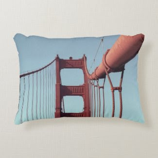 On The Golden Gate Bridge Accent Pillow