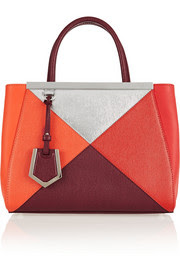 Fendi2Jours small color-block textured-leather tote