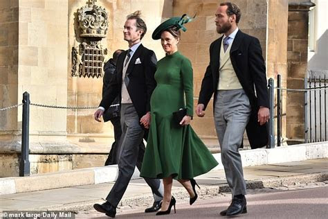 Pippa Middleton attends Princess Eugenie's royal wedding