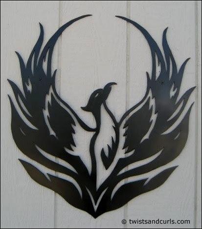 Evangeline's Phoenix tattoo, version 1
