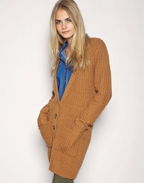 Image 1 of ASOS Fisherman Ribbed Oversize Cardigan