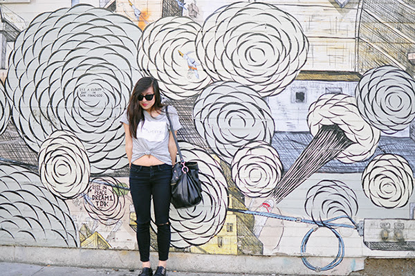 simplicity, black and white, street art, san francisco, fashion, fashion blogger