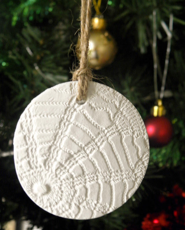 Handmade clay christmas ornament