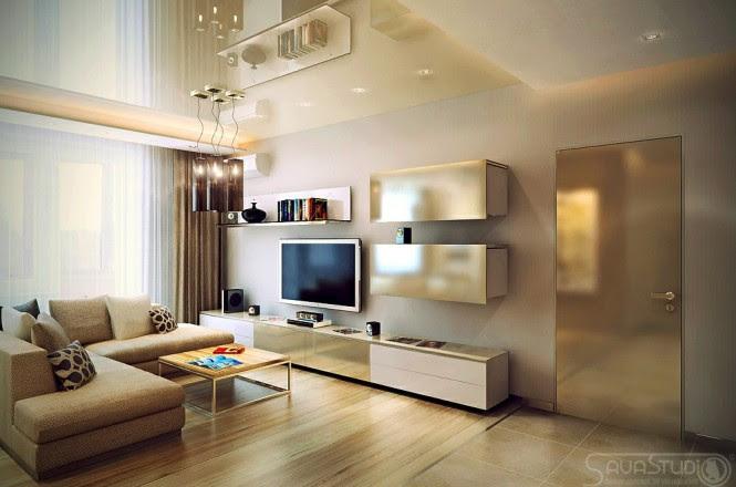 Neutral living room L shaped sofa