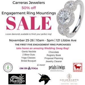 Black Friday Engagement Ring Sale!   Carreras Jewelers
