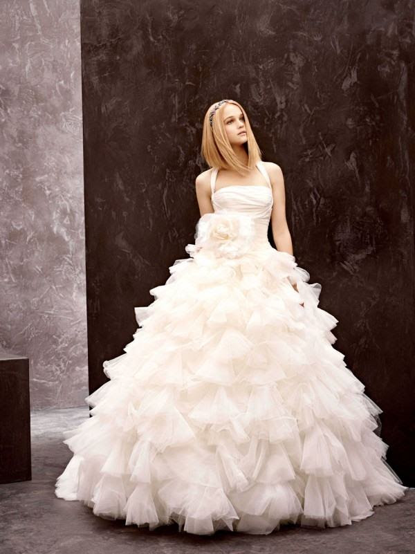 White by vera wang evening dress