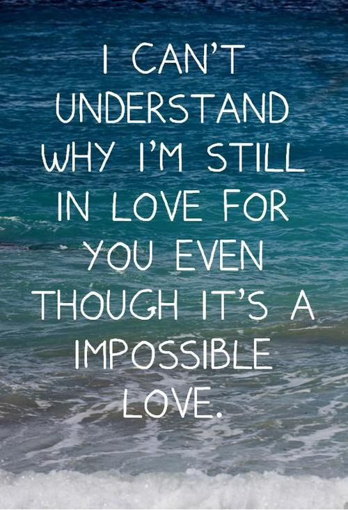 Quotes About An Impossible Love 135 Quotes