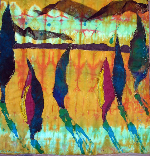 'Sunset'  art quilt by Lorie McCown