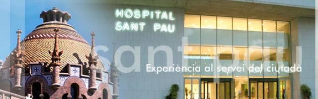 Foto del hospital de Sant Pau publicada en la propia web del centro.