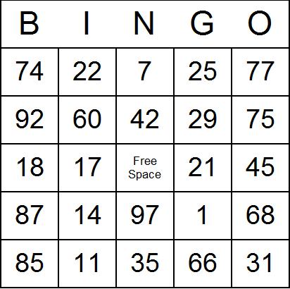 Download bingo card