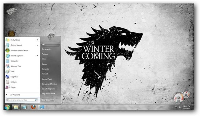 Game of Thrones Theme for Windows 7