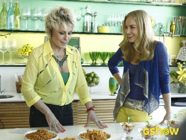Ana Maria e Angélica (Foto: Inácio Moraes/TV Globo)