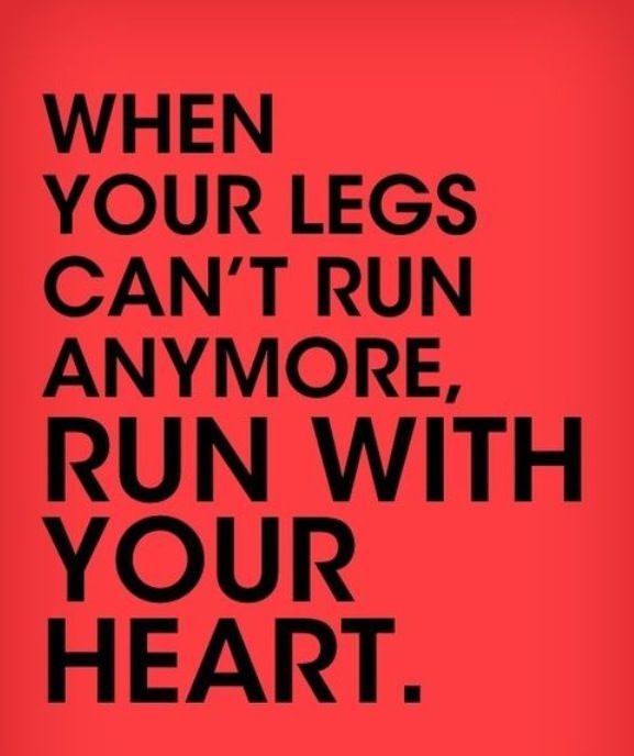"Running with your heart is great. Another thing to help with burning legs is ""Sports Legs"" Come in to a store today and get some to try today!  http://262running.com/about-us/stores"