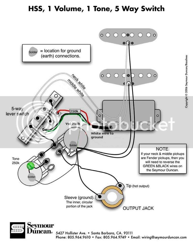 Music Instrument: Guitar Wiring Diagrams 2 Pickups 2 Volume 2 Tone   Guitar Wiring Diagrams Hss      Music Instrument