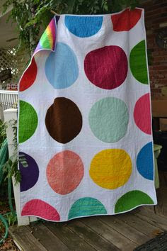 Modern Circles Dots and Spots Quilt by TrueloveQuiltsForYou, $180.00