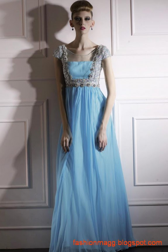 Western Gown Dress Designs for Bridal-Wedding-Night-Parties Wear ...