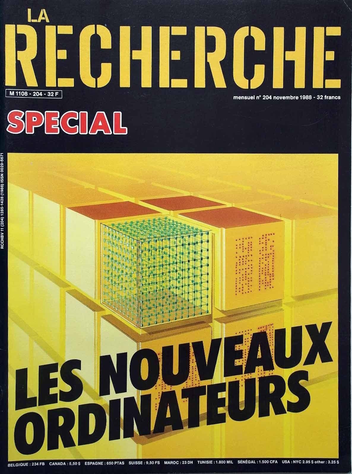 La Recherche N° 204 - Novembre 1988