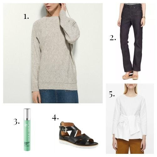 Massimo Dutti Sweater - Raleigh Denim x Kate Spade Jeans - Sole Serum - Sofft Sandals - COS Shirt