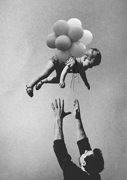 """Look Dad, I'm flying!"""